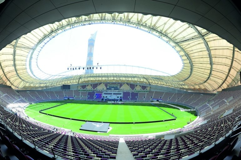 A general view of the refurbished Khalifa International Stadium.