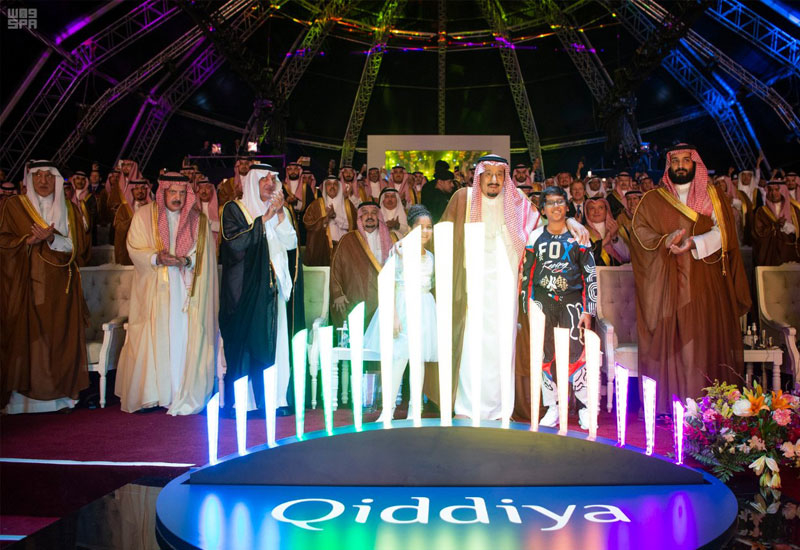 The foundation stone has been laid for Saudi Arabia's Qiddiya entertainment city, located 40km from Riyadh [image: SPA].