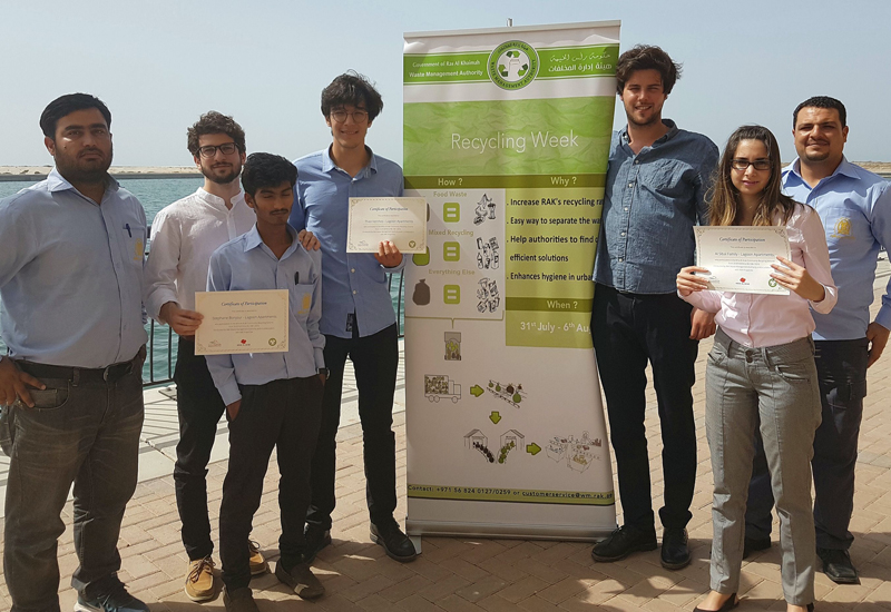 The pilot recycling scheme was the idea of a group of French students involved in a six-week internship at RAK Waste Management Authority.