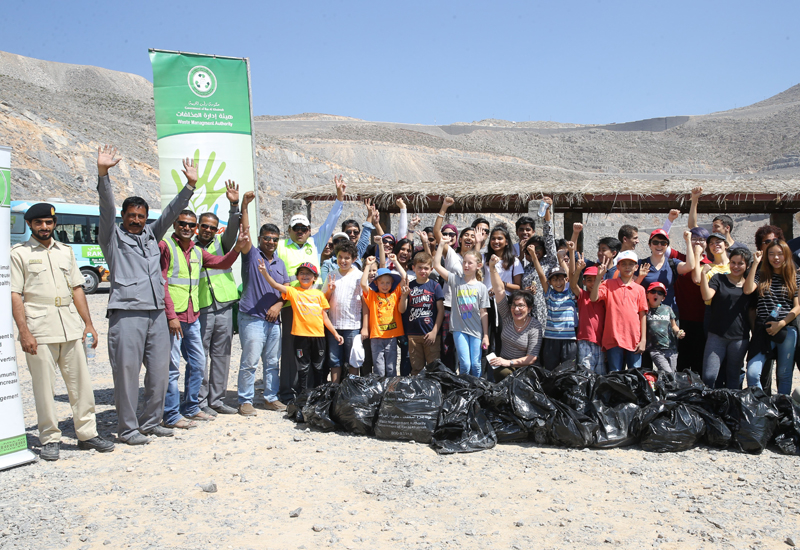 A previous clean-up drive organised by RAK Recycles.