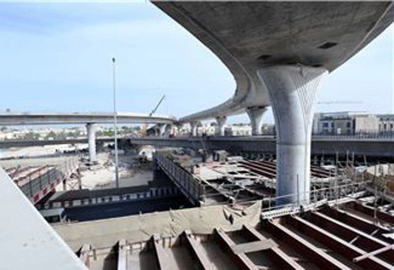 RTA is building flyovers to improve roads in Dubai.