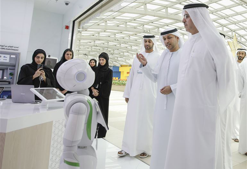 Rammas is DEWA's customer service robot that uses AI to answer questions