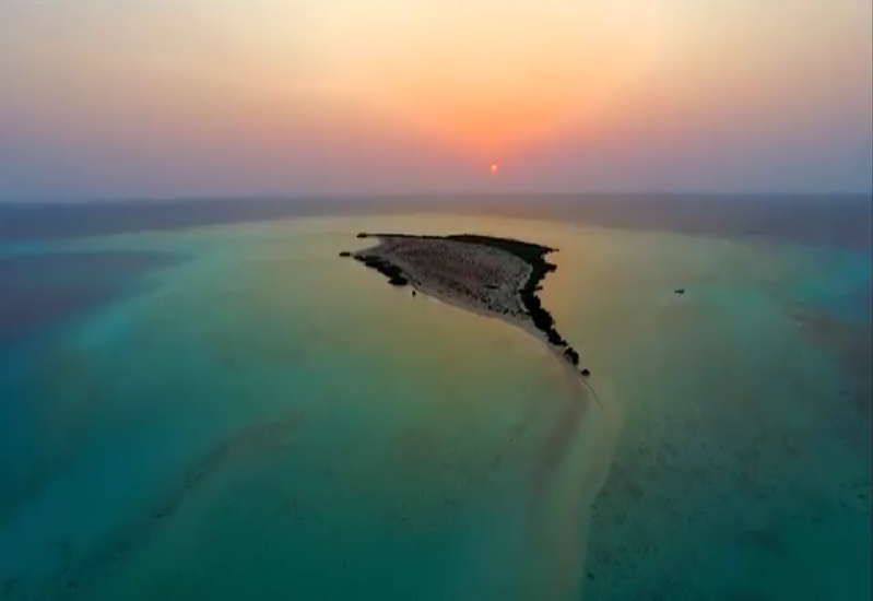 The Red Sea will be established across 50 natural islands [image: Twitter/TheRedSeaSA].
