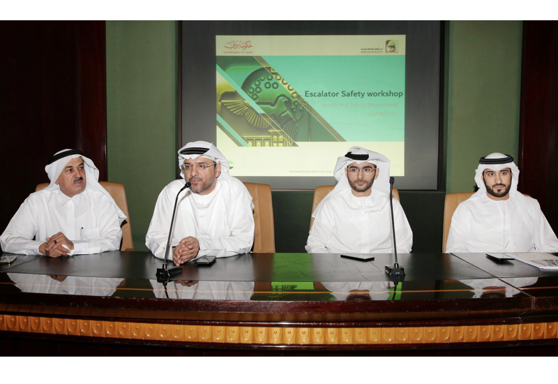 Eng. Redha Salman, director of Health and Safety Department addresses the Escalator Safety workshop.