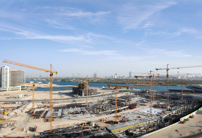 Thirteen tower cranes have been installed at the construction site of Abu Dhabi's Reem Mall [image: NFT Specialized in Tower Cranes].