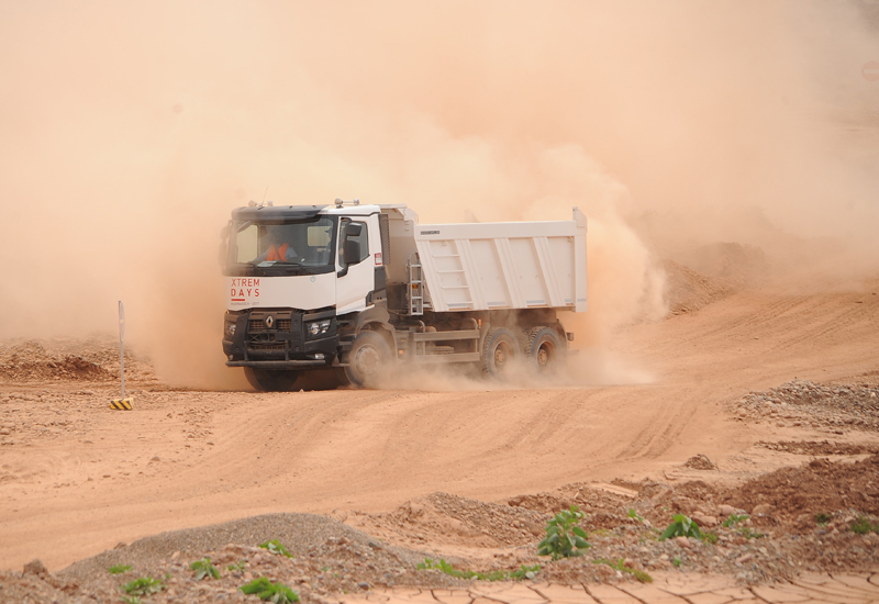 Renault Trucks' K Xtrem offers a total capacity of 29 tonnes to 32.7 tonnes.