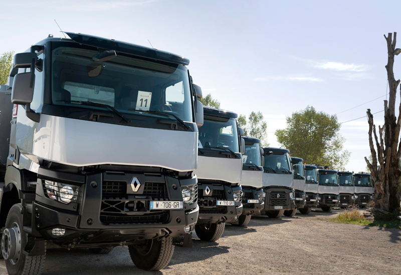 Renault C and K trucks are being produced from knock-down kits on Saudi assembly lines.