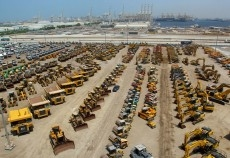 An Aerial view of Ritchie Bros' lot ahead of their December auction.