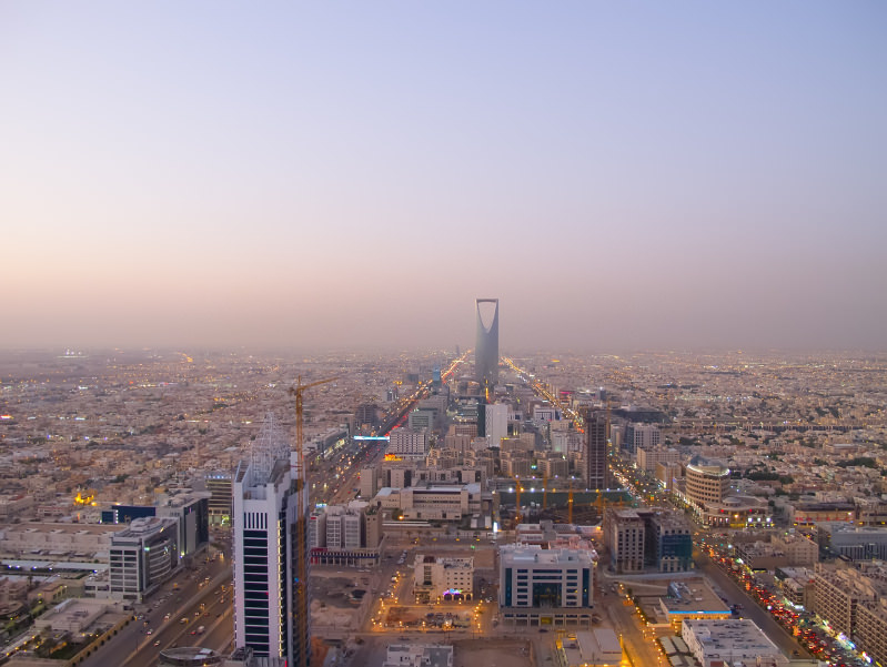 Home prices have declined in Riyadh.