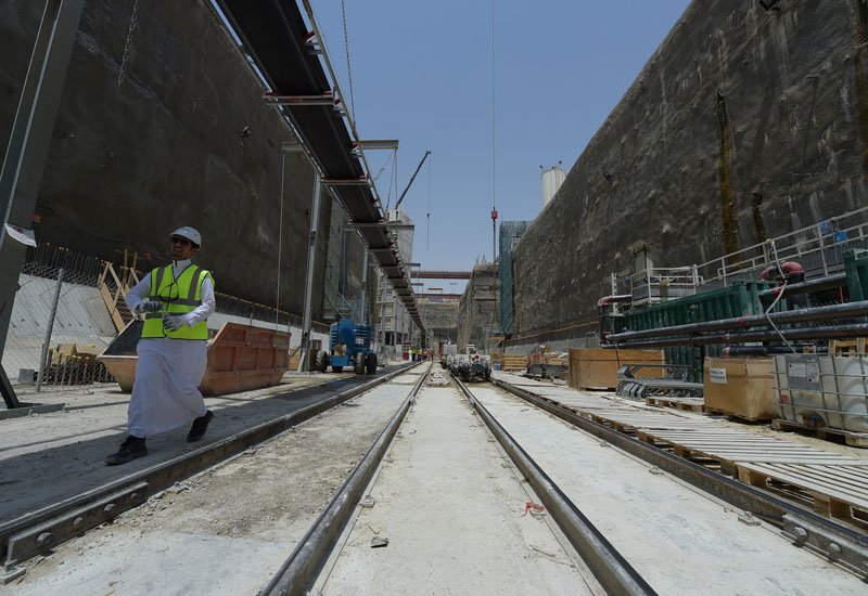 An open-cut site on Package three of the Riyadh Metro, which is being handled by the Spanish-led FAST consortium.