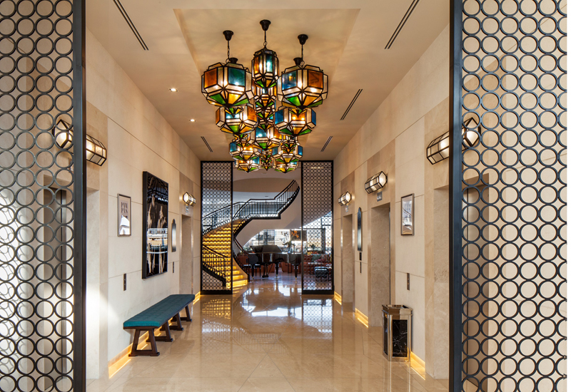 Lobby of the Rocco Forte Hotel.