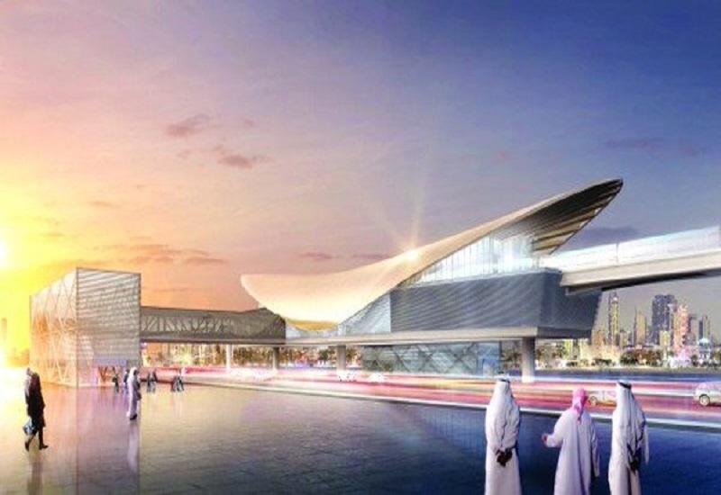 Rendering of Dubai Route 2020 metro line.