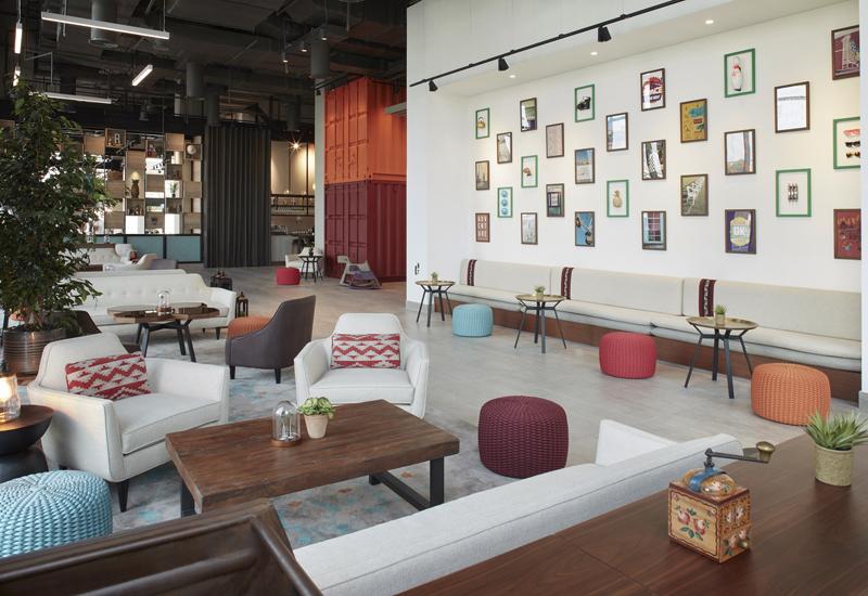 Rove Healthcare City lounge.