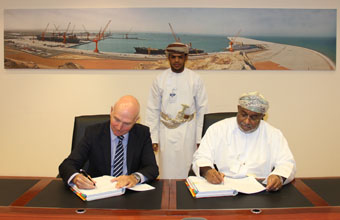 SEZAD and Boskalis Westminster have signed an agreement to construct a liquid berth at Duqm Port [image: SEZAD].