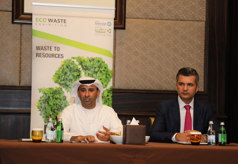 Eng. Saeed Al Mehairbi, acting general manager, Tadweer and Naji El Haddad, group event director, Reed Exhibitions.
