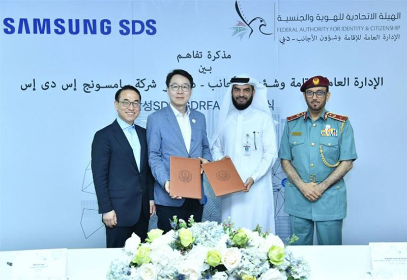 Samsung and GDRFA-Dubai will build an innovation lab in the emirate [image: Dubai Media Office].
