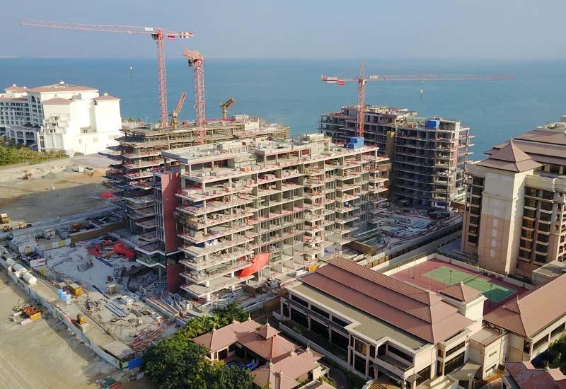 Construction on Palma Holding's Serenia Residence.