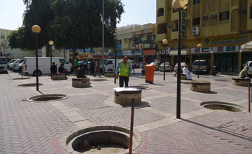 Bahrain Pipes Contracting is implementing revamp works for the Sheikh Abdulla Avenue in Manama. [Image: BNA]