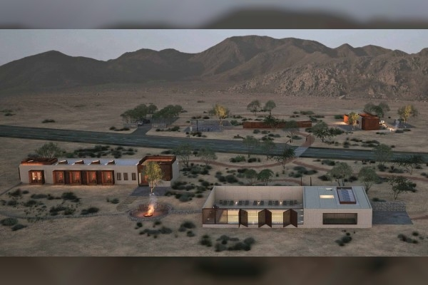 Shurooq confirmed 60% of the Fossil Rock Lodge is complete [image: WAM].