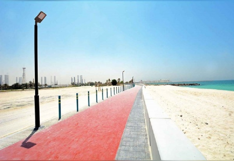 A $1.2m construction project was implemented at Sharjah's Al Hamriyah Beach [image: WAM].