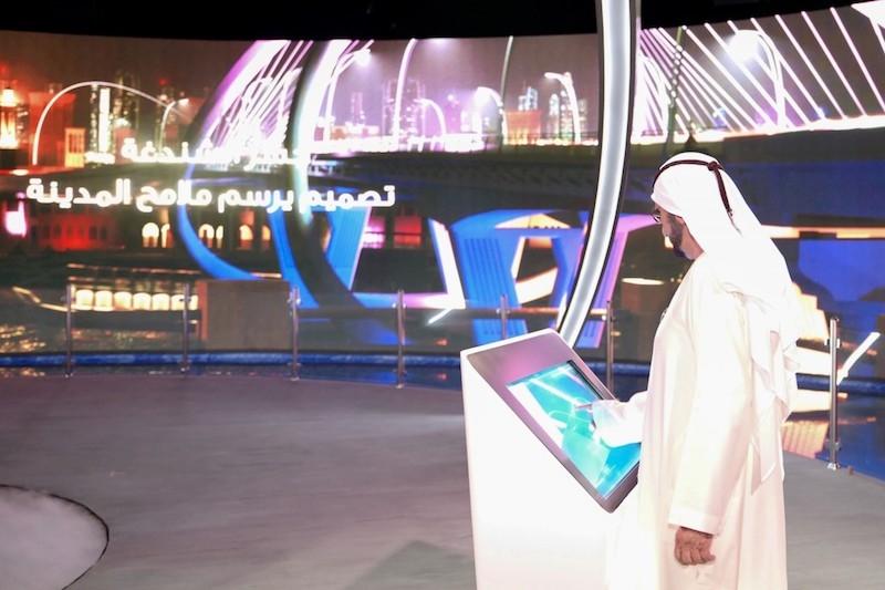 Vice President and Prime Minister of the UAE, and Ruler of Dubai, HH Sheikh Mohammed bin Rashid Al Maktoum, unveiled Shindagha Bridge's development scheme [image: WAM].