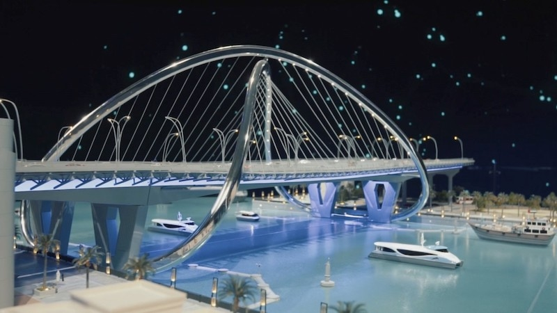 The $107m Shindagha Bridge project's construction has been launched [image: WAM].