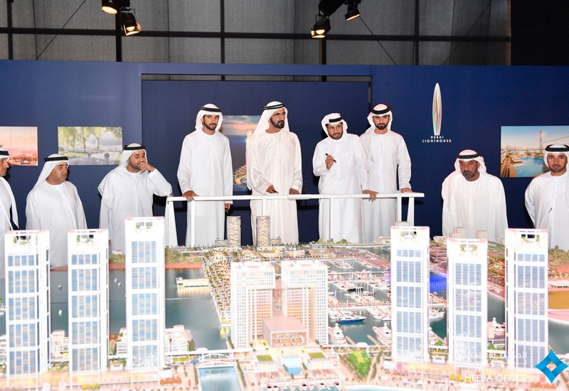 HH Sheikh Mohammed launched the development in Dubai. [Image: Twitter / Dubai Media Office]