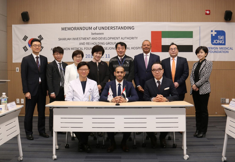 Shurooq has signed an MoU to establish the first Korean hospital in Sharjah [image: WAM].