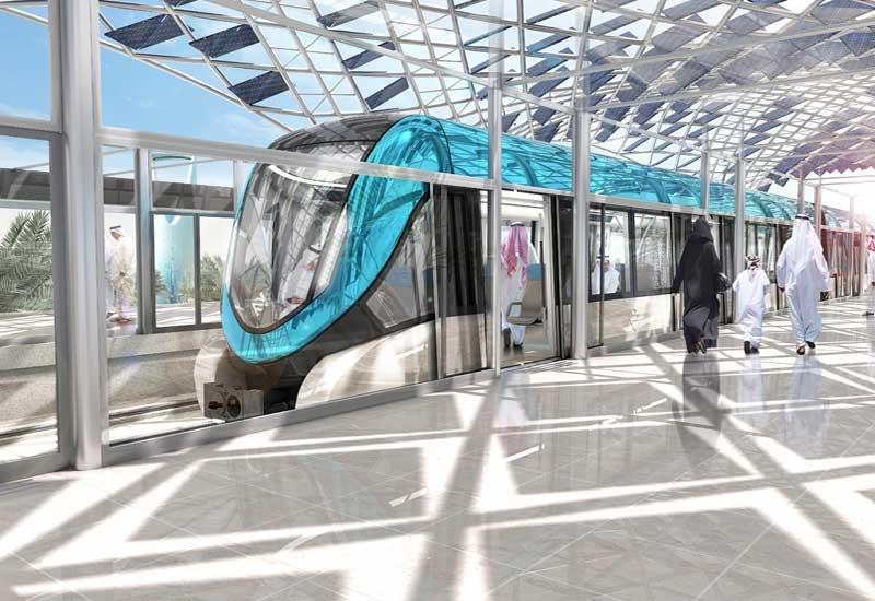 An artist rendition of the Riyadh Metro.
