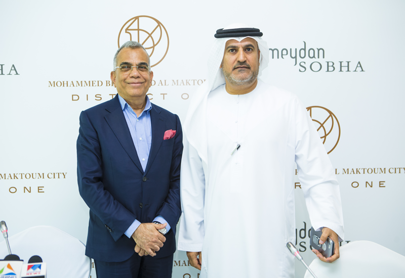 Saeed Humaid Al Tayer, chairman of Meydan Group and PNC Menon, founder of Sobha group.