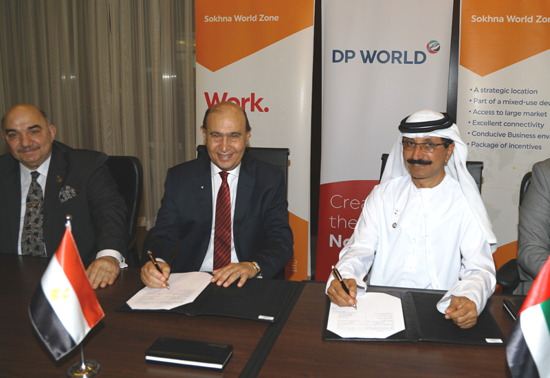 The deal was signedby Sultan Ahmed Bin Sulayem, group chairman and CEO of DP World and Admiral Mohab Mamish, chairman of the Suez Canal Authority and the Suez Canal Economic Zone (SCZone).