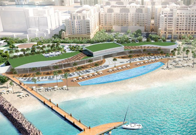 The St Regis Beach Club on Palm Jumeirah is due to open in 2019 [image: Dubai Media Office].