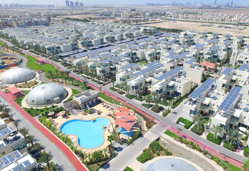 Dubai Sustainable City is a 46 hectare development situated near the Arabian Ranches in Dubai, and is the first net zero energy city in Dubai.