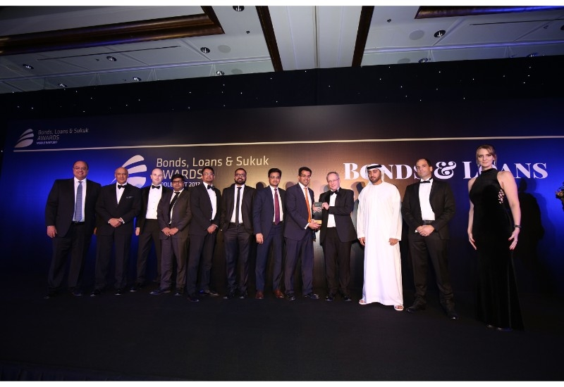 The Tabreed team at Bond, Loans and Sukuk Awards Middle East on held on 7 December2017, at the Ritz Carlton JBR, Dubai.