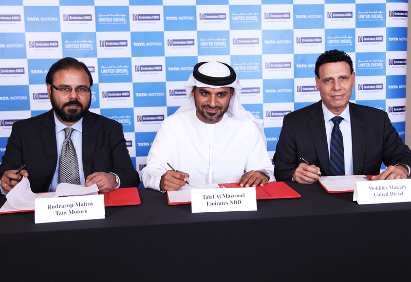 Emirates NBD will extend credit for the purchase of all Tata Motors Commercial Vehicles models.