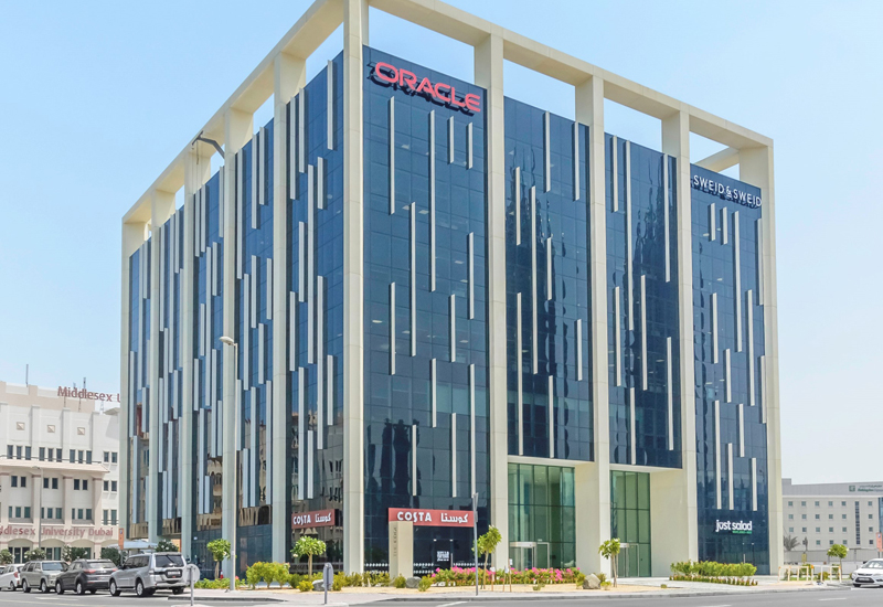 The acquisition of Dubais Oracle-branded The Edge building takes ENBD REITs total portfolio value to $447m.