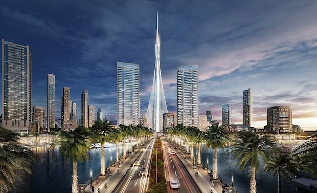 The Tower at Dubai Creek Harbour.