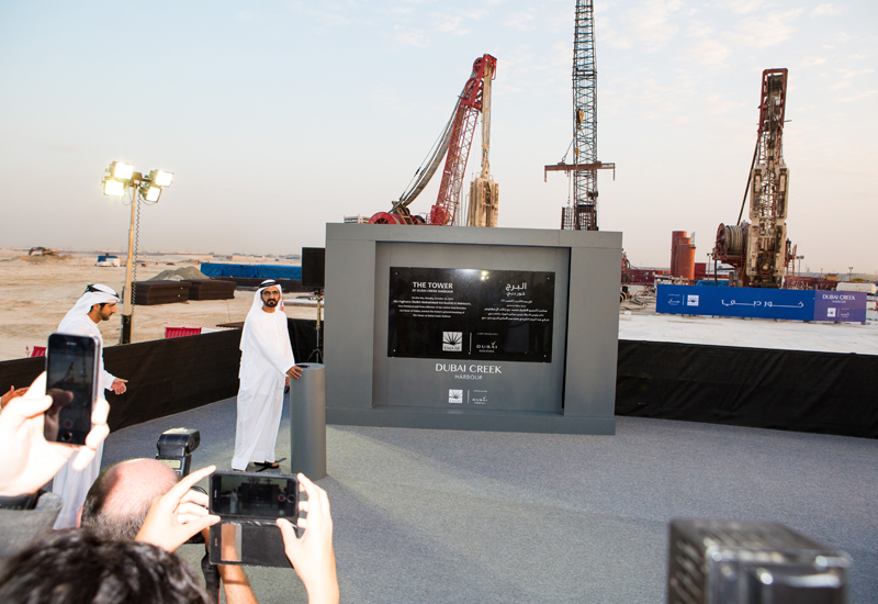 HH Sheikh Mohammed bin Rashid Al Maktoum aid the foundation stone for the tower in October 2016.