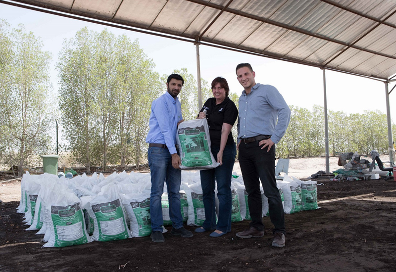 The composting undertaken by The Dubai Mall to create organic manure.