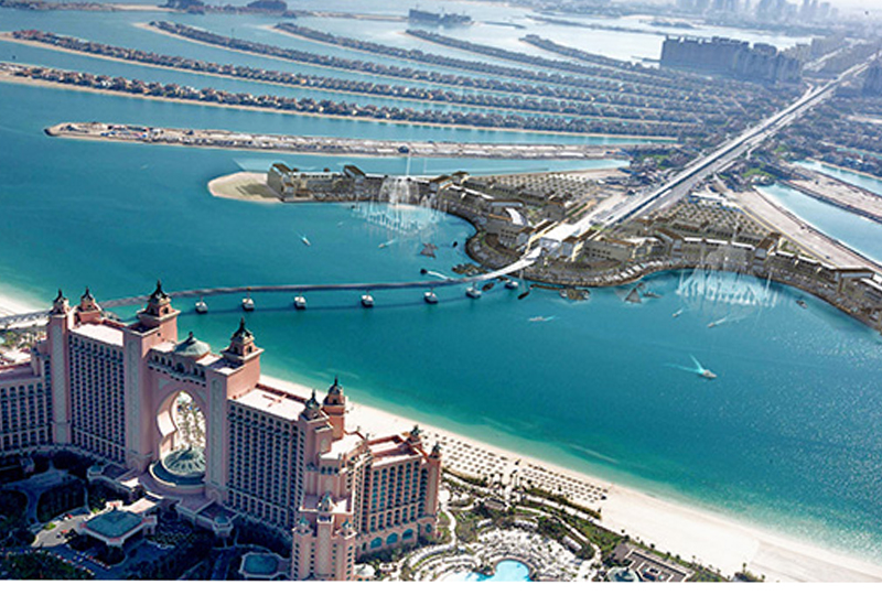 The Point, which will be located across the bay from Atlantis on The Palm, spans 1.4 million sq ft.
