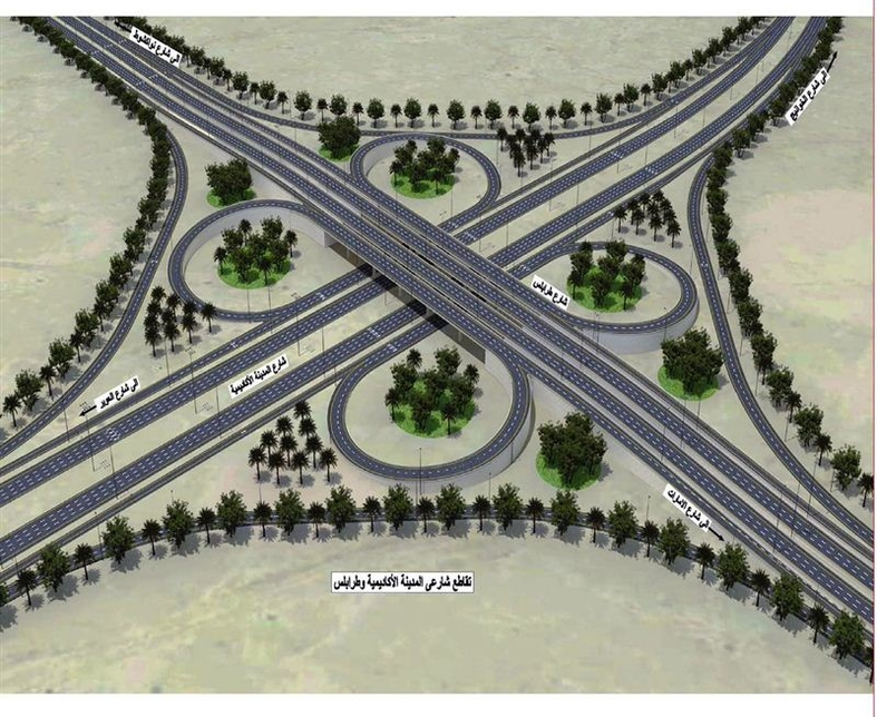 A contract worth $136.1m has been awarded for the Tripoli Road improvement project. [Image: Dubai Media Office]