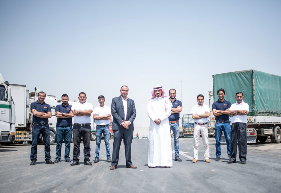 The Trukkin team, with co-founders Janardan Dalmia and Ahmed Al Nafie pictured in the centre.