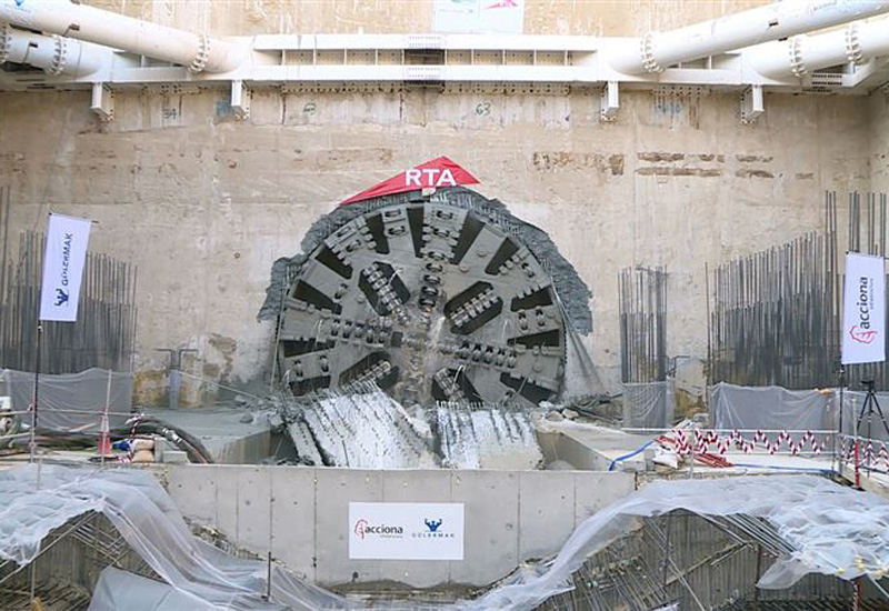 Tunnelling work for Dubai Metro's extension project, Route 2020, has been completed [image: Dubai Media Office].