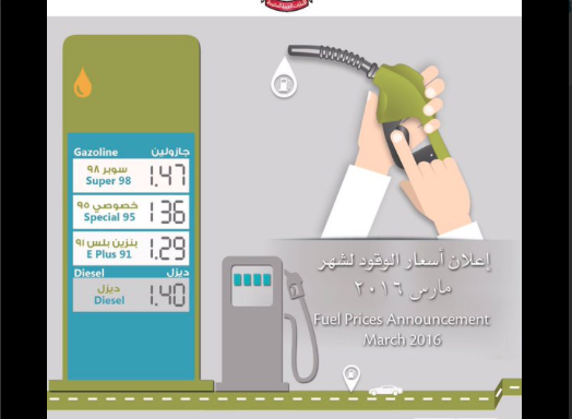 UAE gasoline prices for March 2016 have been reduced. [Image: Twitter/UAE_MOENR]