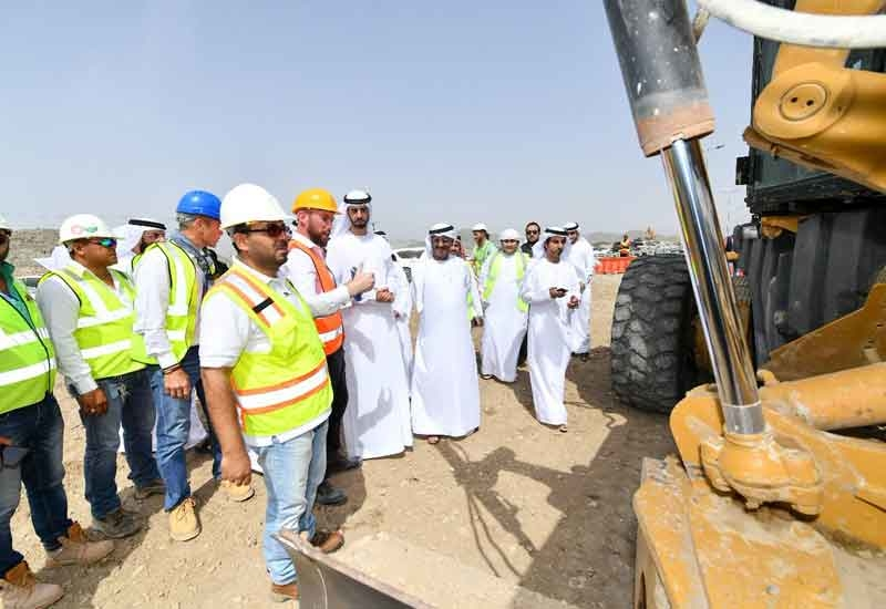 The UAE's Minister of Infrastructure Development and Minister of State for Artificial Intelligence recently revealed the country's use of AI on federal road projects [image: Twitter/Dubai Media Office].