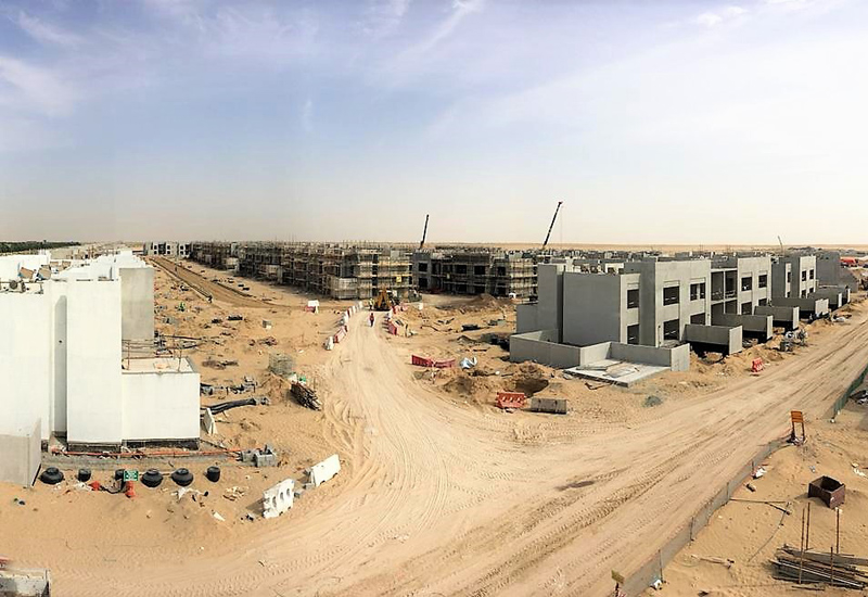 Urbana 1 tiered townhouse community at Emaar South.