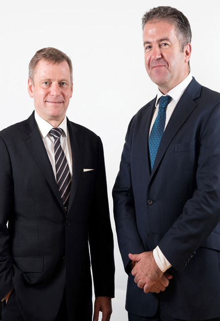 From left: Uwe Krueger, Atkins' chief executive officer and Dominic Harvey, chief executive officer of Atkins Acuity.