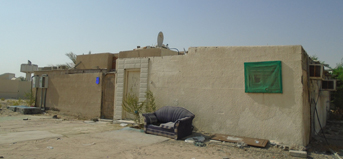 A villa in the emirate of Abu Dhabi targeted for demolition.