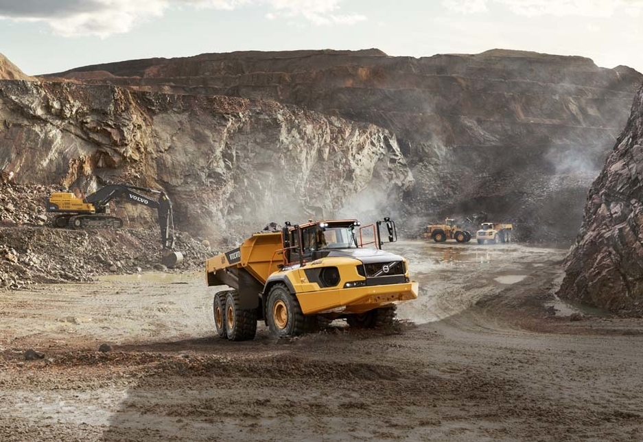 The A60H is the largest articulated hauler on the market, and can deliver 40% more productivity than Volvo's previous largest machine.