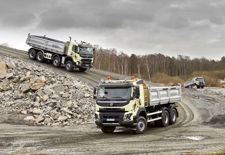The Volvo FMX has proved popular in the Middle East.